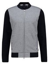 Abercrombie And Fitch Varsity Muscle Fit Tracksuit Top Heather Grey