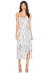 Olcay Gulsen Printed Slip Dress White