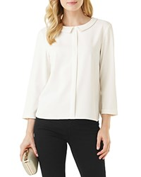 Phase Eight Marilyn Peter Pan Collar Blouse Ivory
