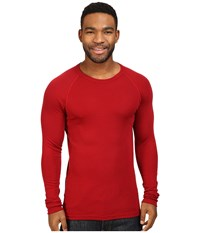 Icebreaker Everyday Long Sleeve Crewe Oxblood Men's Clothing Red