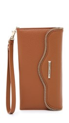 Rebecca Minkoff Leather Folio Iphone 6 Plus 6S Plus Wristlet Almond