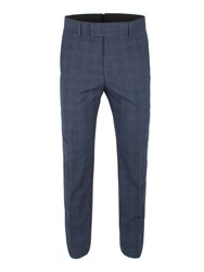 Gibson Men's Blue Check Trouser Blue