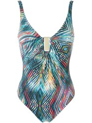 Lygia And Nanny Abstract Print Swimsuit Multicolour