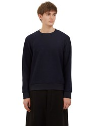 Mohsin Heron Wool Crew Neck Sweater Navy