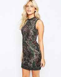 Oasis Baroque Print Dress Multi