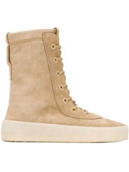 Yeezy Season 2 Crepe Sole Boots Nude And Neutrals