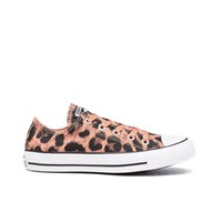 Converse Women's Chuck Taylor All Star Animal Print Ox Trainers Pink Blush Black Multi