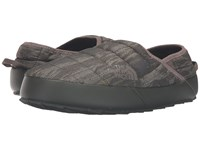 The North Face Thermoball Traction Mule Ii Rosin Green Glamo Print Caper Berry Green Men's Slippers Brown