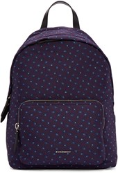 Burberry Purple Pindot Print Backpack