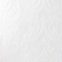 Graham And Brown Paintable Large Damask Wallpaper Sample Swatch