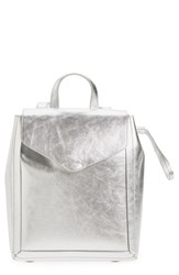 Loeffler Randall Mini Metallic Leather Backpack