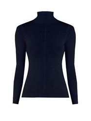 Frame Cashmere Roll Neck Sweater Navy