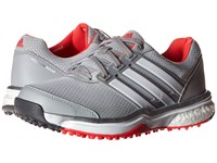 Adidas Adipower S Boost Ii Clear Onix Ftwr White Shock Red Women's Golf Shoes Gray
