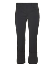 Maison Martin Margiela Low Rise Tuxedo Stripe Wool Trousers