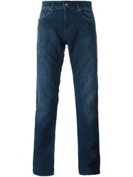 7 For All Mankind Straight Jeans Blue