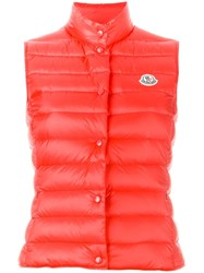 Moncler 'Liane' Padded Gilet Red