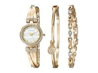 Anne Klein Bangle Watch And Bracelet Boxed Set Gold Tone Jewelry Sets