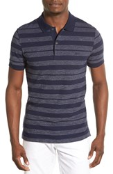 Men's Lacoste 'Business Casual' Slim Fit Stripe Short Sleeve Polo