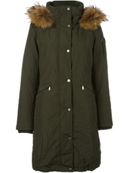 Michael Michael Kors Hooded Parka Coat Green