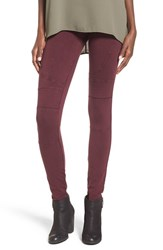 Women's Bp. Stretch Denim Moto Leggings Burgundy Stem