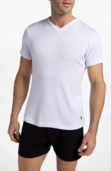 Polo Ralph Lauren Men's Big And Tall V Neck T Shirt White White