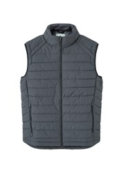 Mango Quilted Gilet Grey