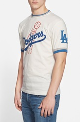 Red Jacket 'Los Angeles Dodgers Remote Control' T Shirt Dove White