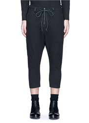 Attachment Drop Crotch Cropped Pants Black