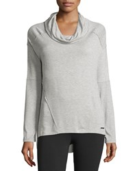 Marc New York Marc Ny Performance Long Sleeve Cowl Neck Lounge Top Light Gray