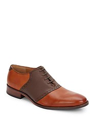 Cole Haan Williams Leather Saddle Oxfords British Tan Chestnut