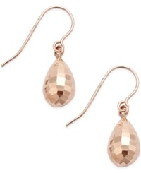 Macy's Mirrored Teardrop Earrings In 10K Rose Gold