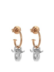 Charlotte Chesnais Mini Horn Silver And Gold Plated Earrings Multi