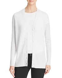 Bloomingdale's C By Grandfather Cashmere Cardigan Snow