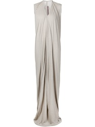 Rick Owens Lilies Draped Maxi Dress Grey