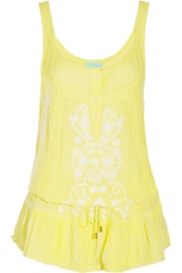 Melissa Odabash Jaz Embroidered Muslin Dress