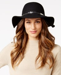 Inc International Concepts Chain And Faux Suede Band Floppy Hat Only At Macy's Black