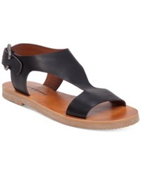 Lucky Brand Devyn Flat Slingback Sandals Women's Shoes Black