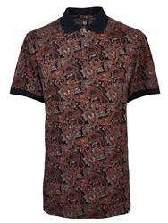 Pretty Green Turner Paisley Polo Black