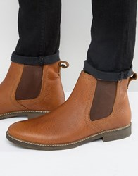 Red Tape Chelsea Boots In Beige Leather Beige