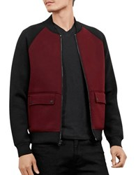 Kenneth Cole Colorblock Bomber Jacket Malbec