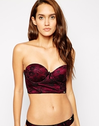 Ultimo Black Label Low Back Strapless Bra Raspberryblack