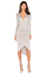 Charli Cassie Wrap Dress Gray