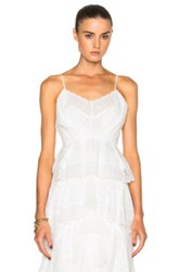 Erdem Justice Crochet Lace Top In White