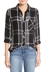 Rails 'Hunter' Plaid Shirt Black White Gray