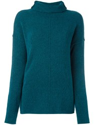 Forte Forte Turtleneck Jumper Blue
