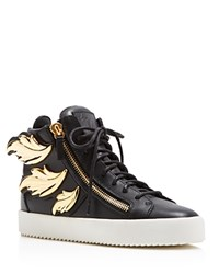 Giuseppe Zanotti Maylondon Zipper Lace Up High Top Sneakers