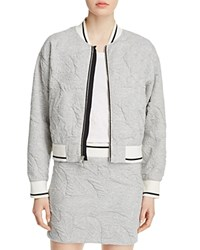 Rag And Bone Rag And Bone Jean Quilted Bomber Jacket Heather Grey
