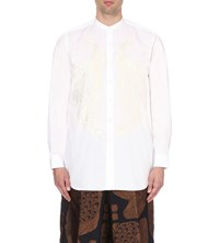 Dries Van Noten Clynt Peacock Embroidered Shirt White