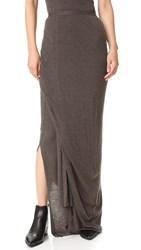 Rick Owens Long Skirt Dark Dust