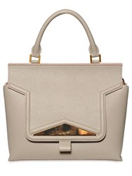 Vionnet Grained Leather Top Handle Bag